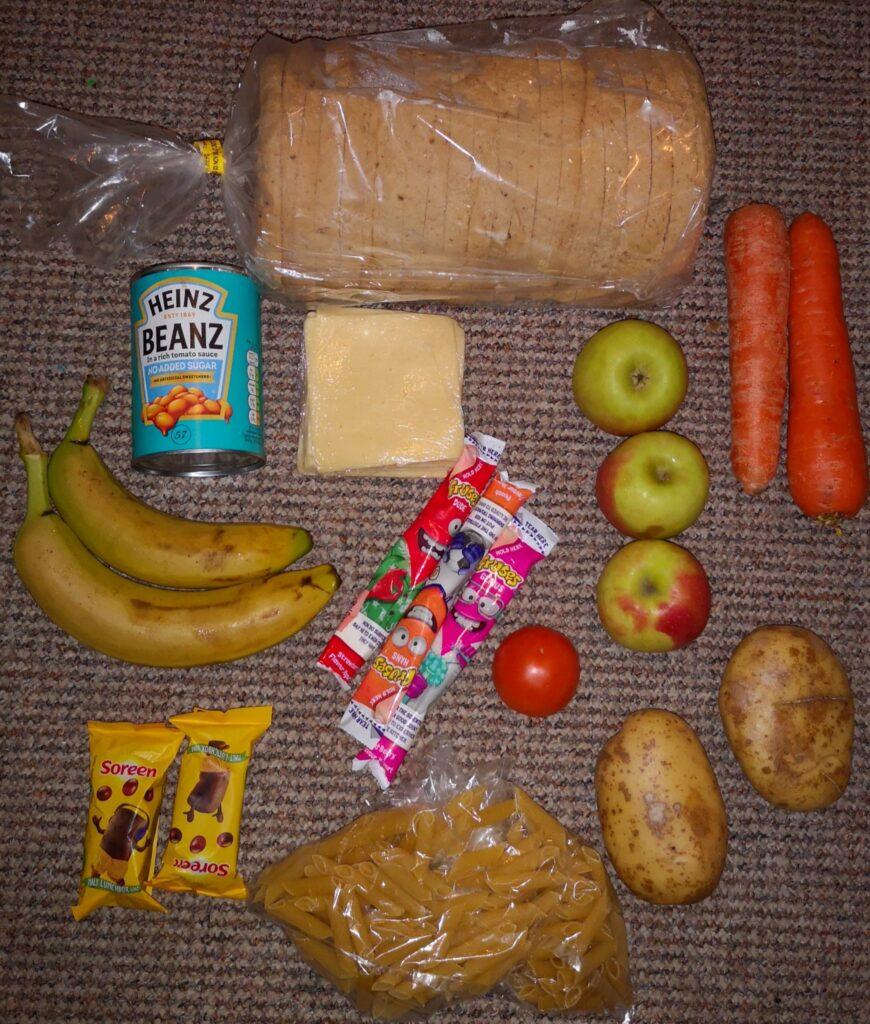 el paquete de comida de chartwells recibido