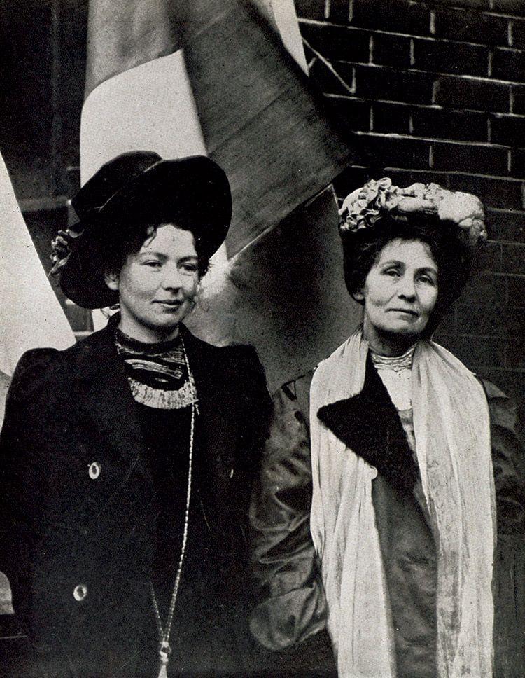 Emmeline pankhurst con su hija