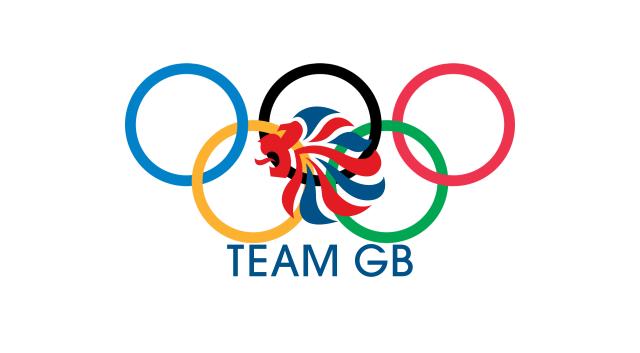 logo de team gb y los aros olímpicos